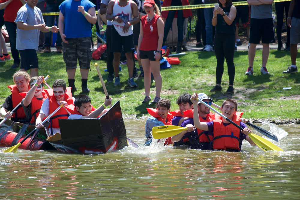"The theme for this year's Roth Regatta was ""Superheroes vs. Supervillains."" LUIS RUIZ DOMINGUEZ/THE STATESMAN"