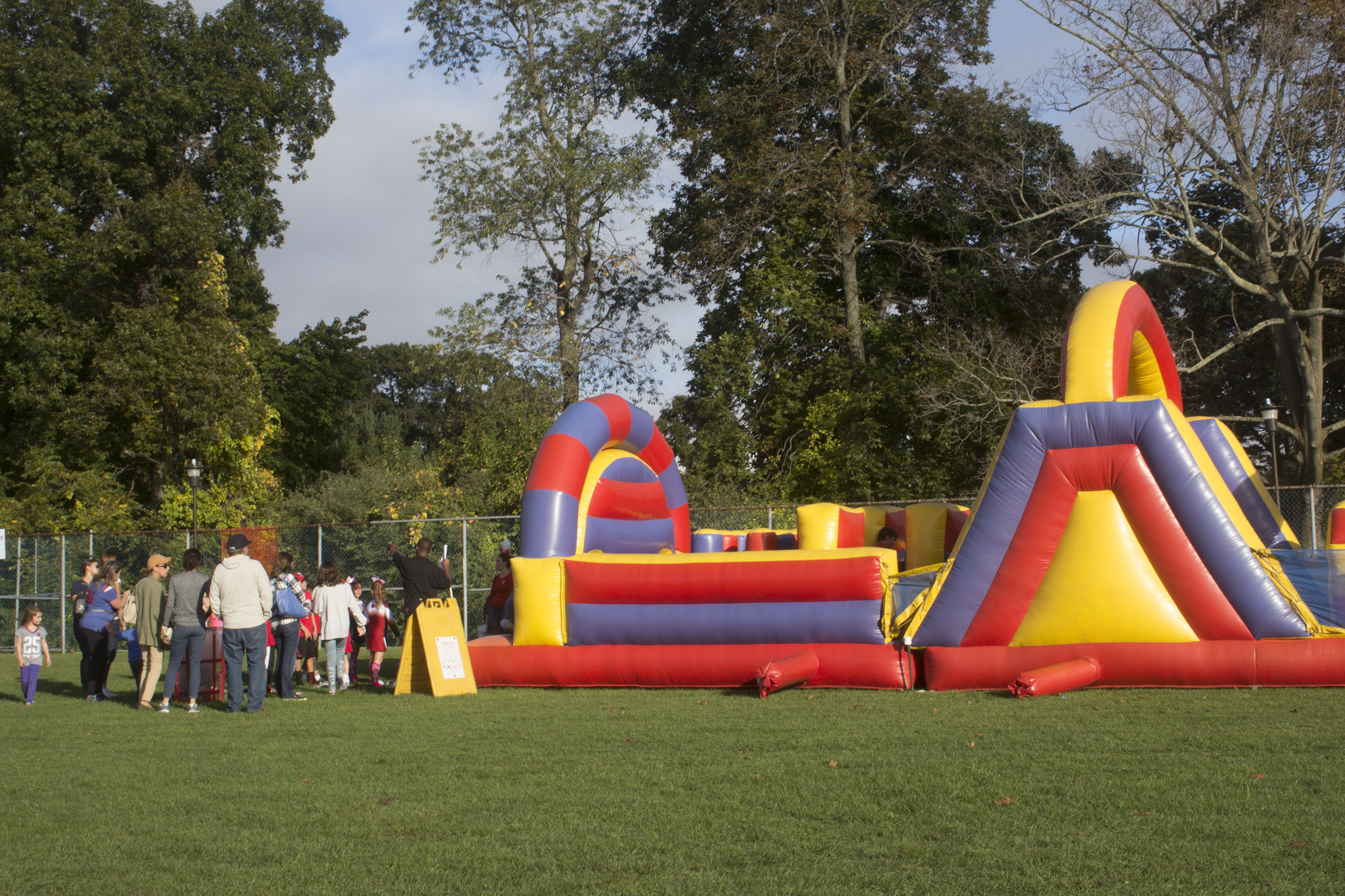 Wolfstock Village included bouncy houses and live music. <em>ANNA CORREA/THE STATESMAN</em>