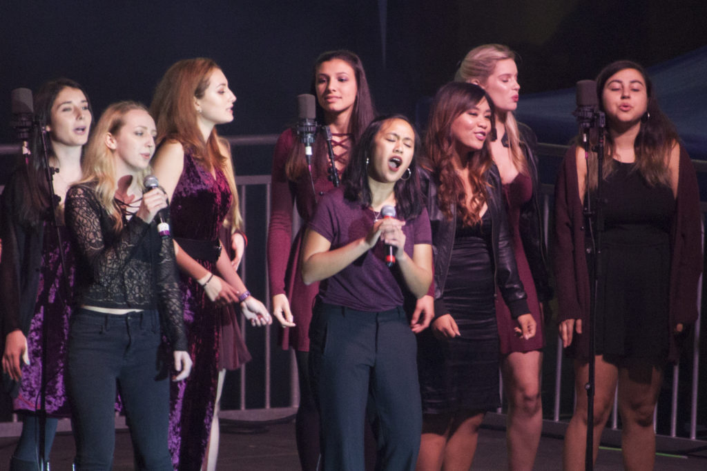 The showcase included a performance by the Pipettes, an all female a capella group. EMMA HARRIS/THE STATESMAN