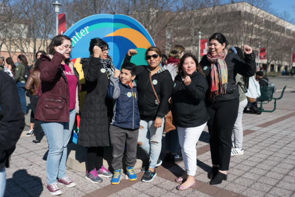 Members of Sepa Mujer joined the march on Wednesday, Feb. 28. GARY GHAYRAT/THE STATESMAN