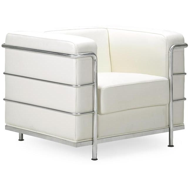 Zuo Modern Fortress Arm Chair White 900221