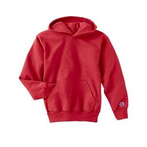 Champion Youth 50/50 Hooded Pullover Sweatshirt Large - Red