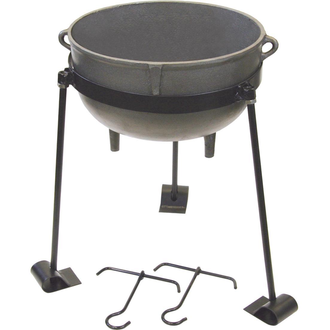 Bayou Classic Pots And Stand 10 Gallon Cast Iron Jambalaya Pot
