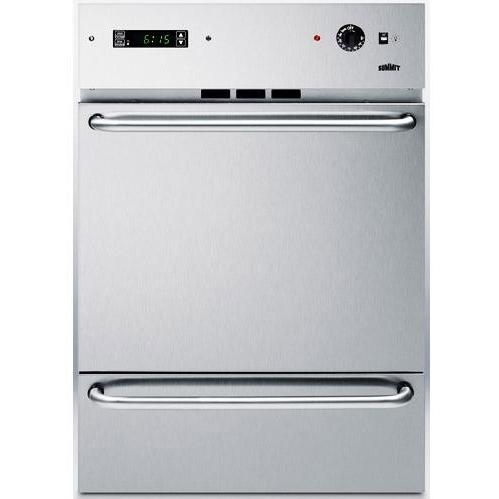 Summit WTM7212KWSS Gas Wall Oven With Electronic Ignition - Stainless Steel