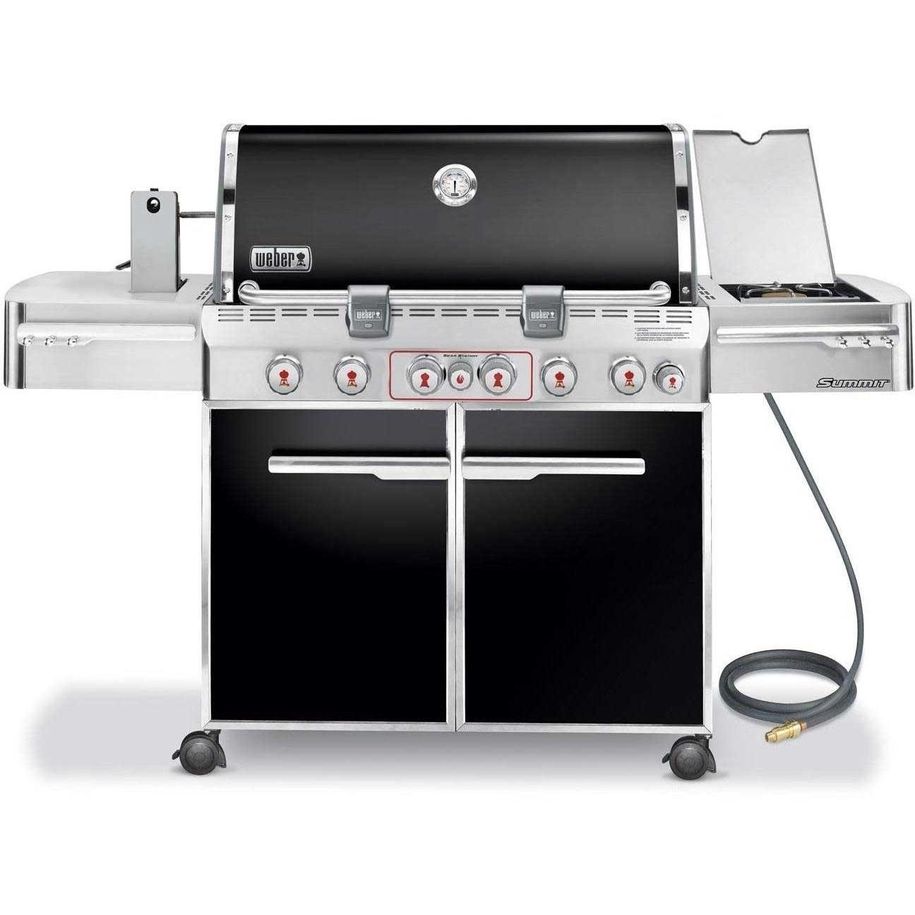 Weber Summit E-670 Natural Gas Grill On Cart With Rotisserie, Sear Burner & Side Burner - Black 2678714