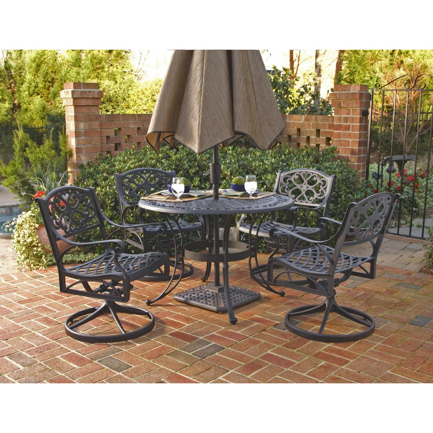Darlee Florence 4 Person Cast Aluminum Patio Dining Set