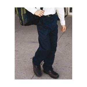 French Toast School Uniform Boys Flat Front Double Knee Twill Pant 16 - Navy