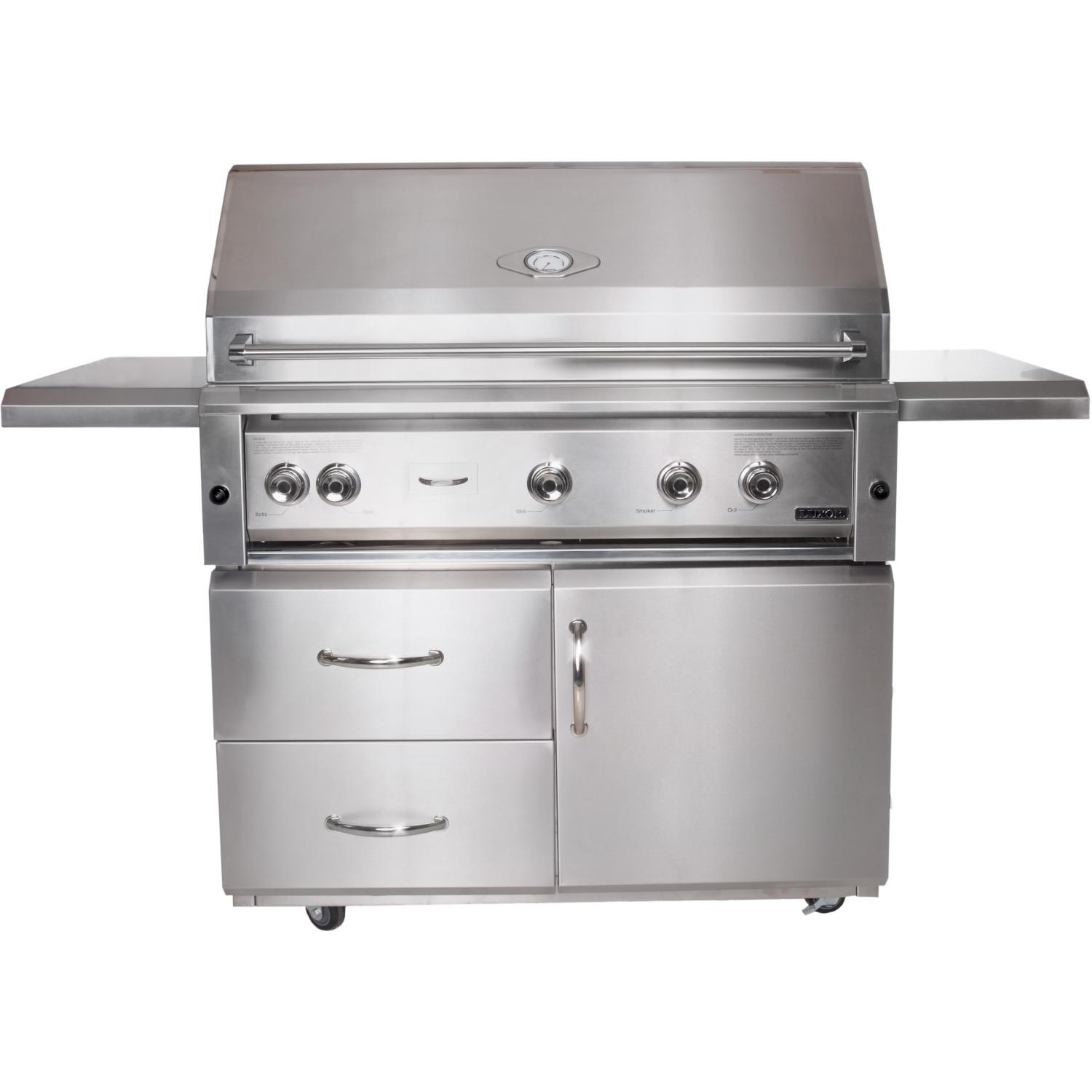 Luxor Gas Grills 42 Inch All Infrared Natural Gas Grill On Cart With Rotisserie AHT-42FR-NG