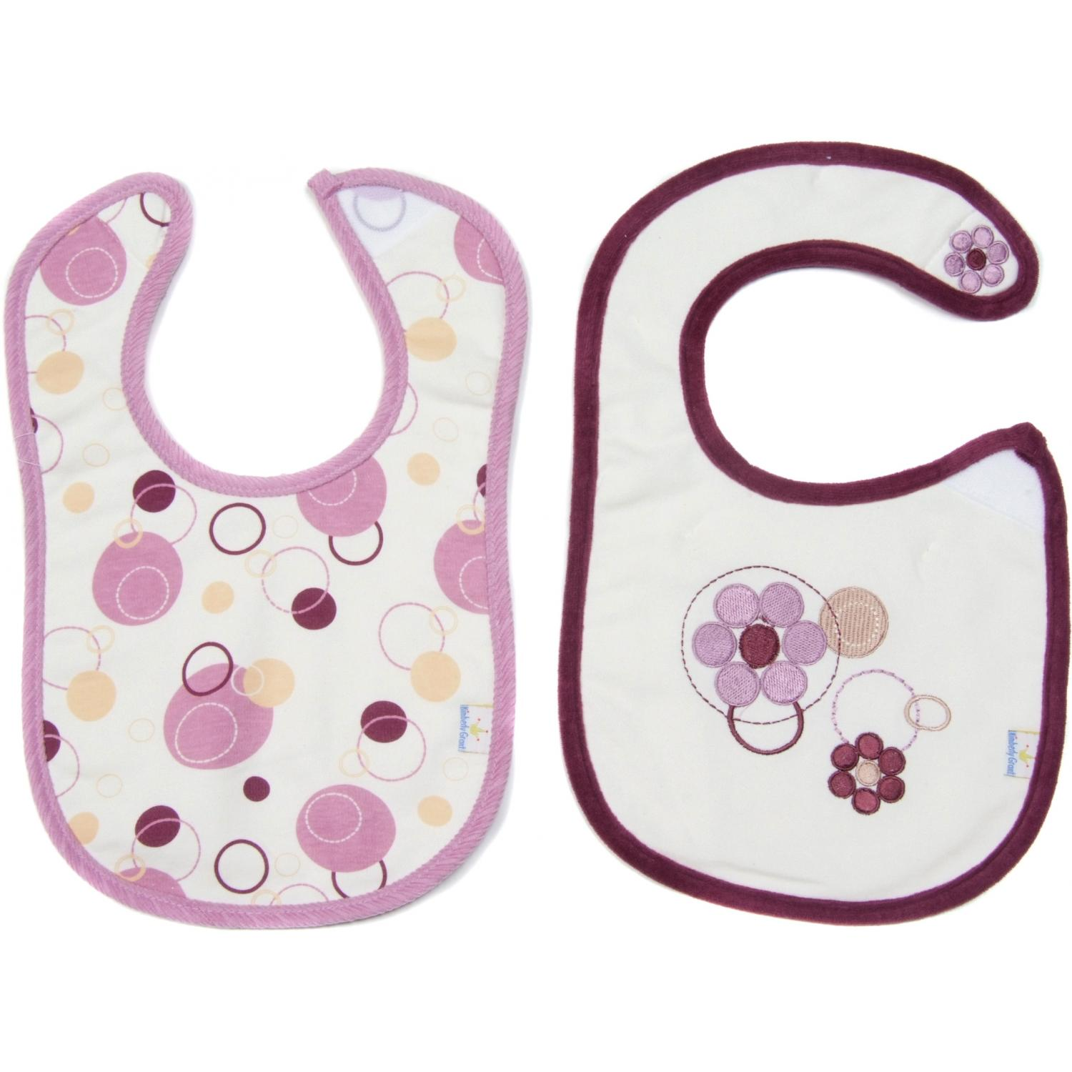 Pomegranate Collection Bib And Burp Cloth Set