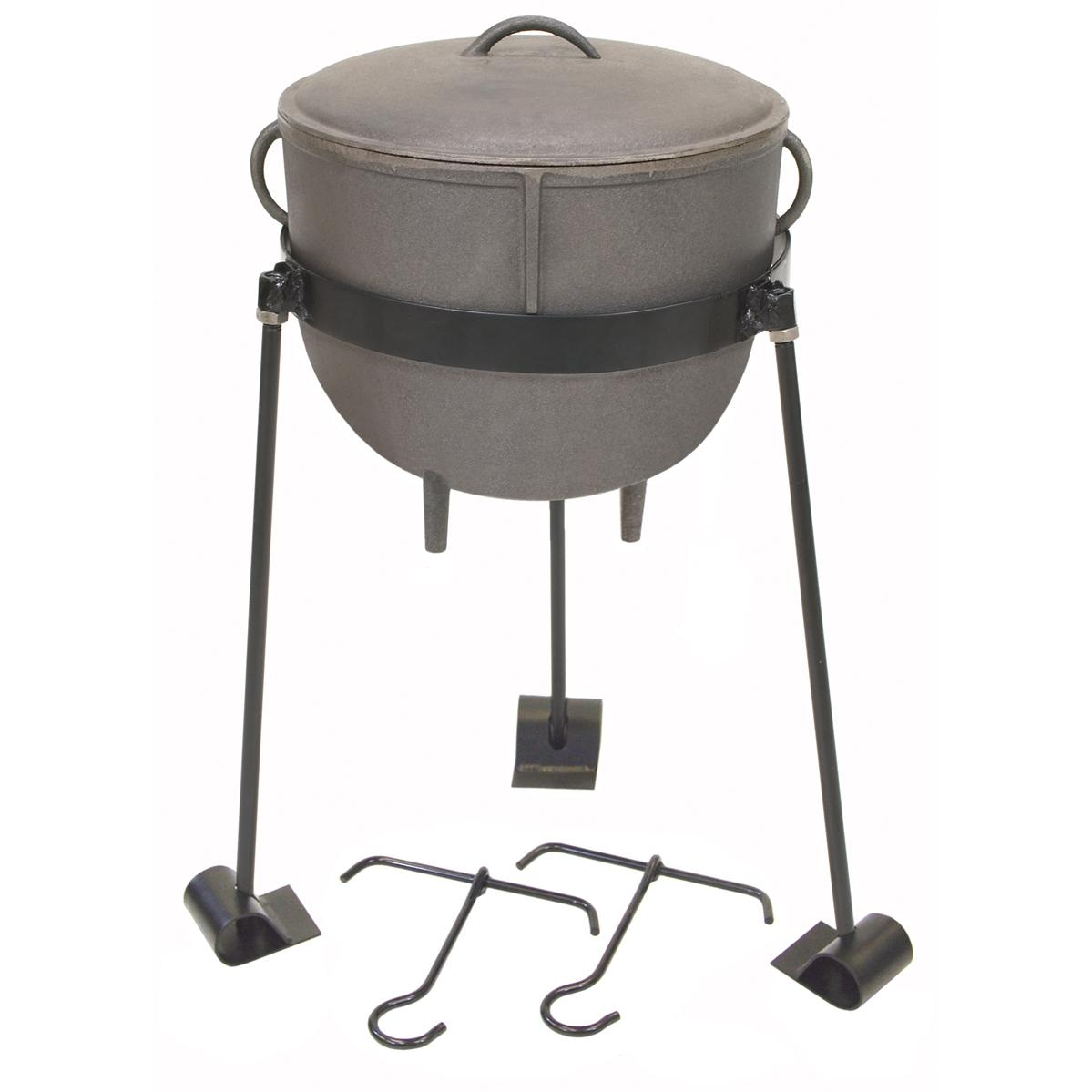 Bayou Classic Pots With Lid And Stand 4 Gallon Cast Iron Stew Pot