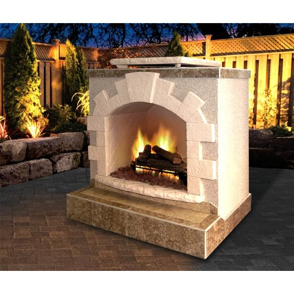 Cal Flame 48 Inch Outdoor Natural Gas Fireplace