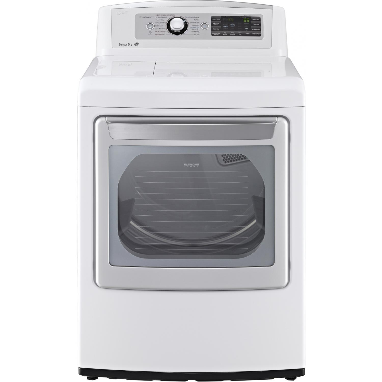 LG DLEX5680W 7.3 Cu. Ft. SteamDryer Front Load Electric Dryer - White 2890266