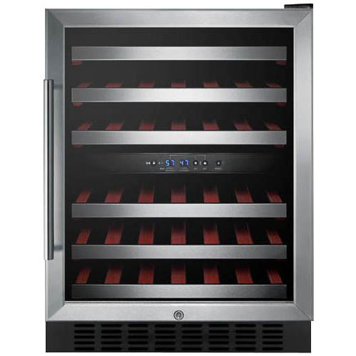 Summit 46 Bottle Built-In / Freestanding Wine Cellar / Cooler - Stainless Steel - SWC530LBISTCSS 2909000