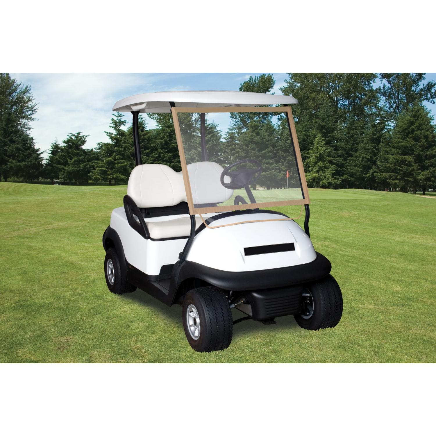 Classic Accessories Deluxe Portable Golf Car Windshield - Sand/Clear