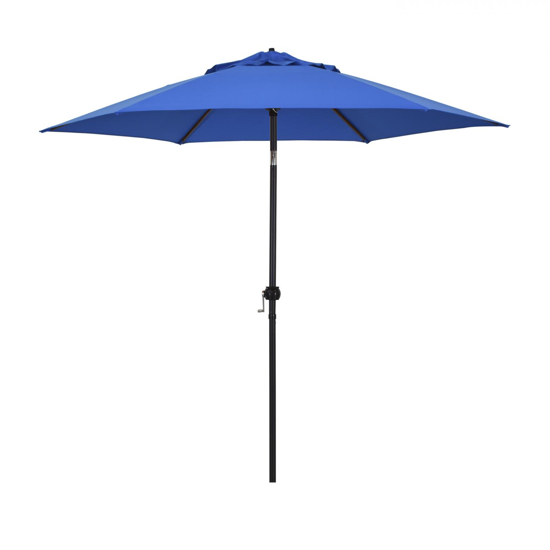 Astella 9 Ft. Aluminum Push Tilt Patio Umbrella W/ Crank Lift - Black Frame / Polyester Pacific Blue Canopy - Eco906d709-p01