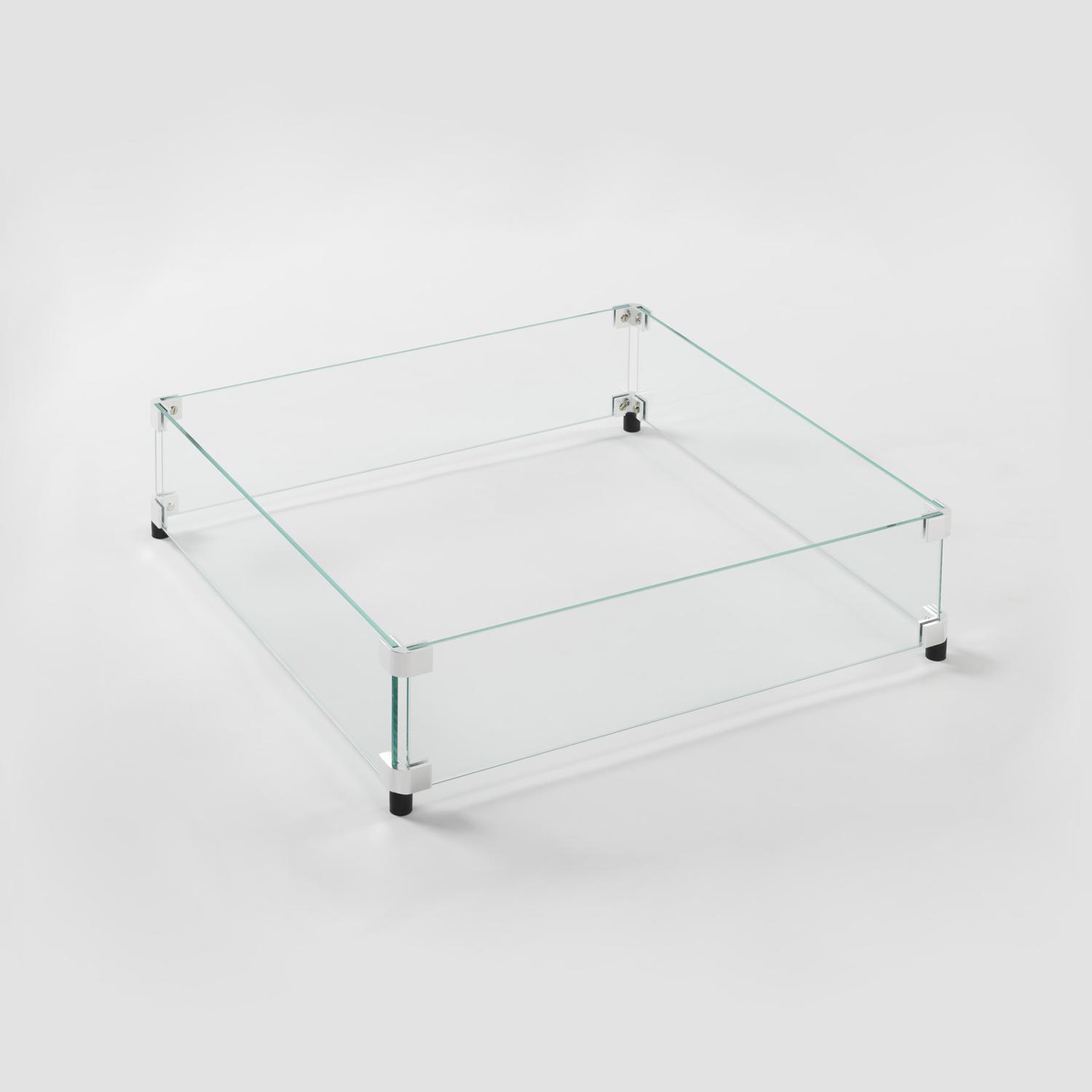 Blazing Beats Dancing Flame Fire Table Glass Wind Guard - Tempered Glass - COY-WG-BB