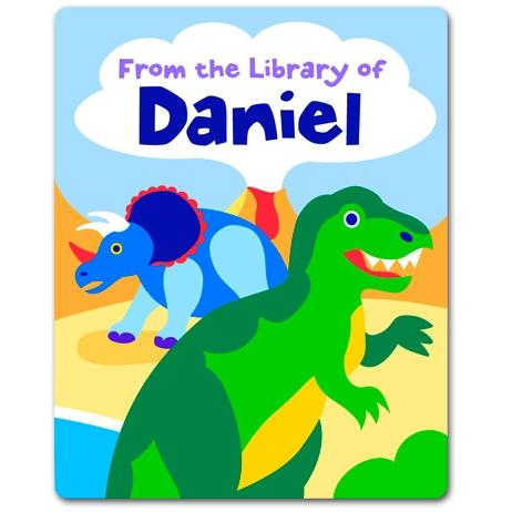 Olive Kids Personalized Book Plate - Dinosaurland
