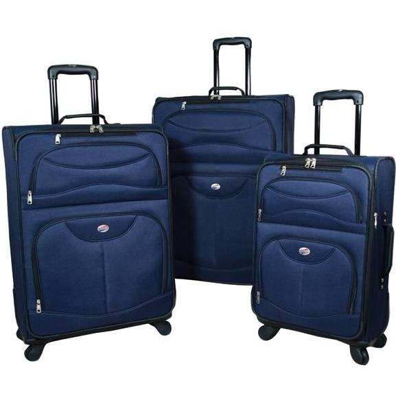 American Tourister 4-Piece Luggage Set - Navy