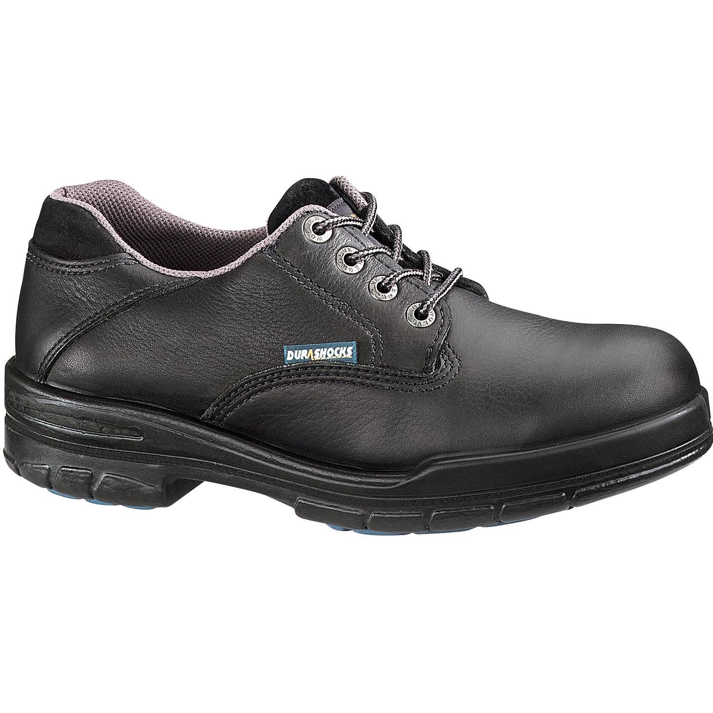 Wolverine Mens Durashocks SR Oxford Work Shoes - Black - Size 7 - Wide