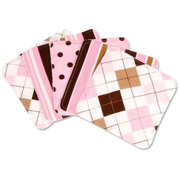 Trend Lab 5-Piece Wash Cloth Set - Prep School Pink