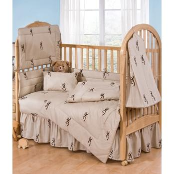 Browning Buckmark Brown - Crib Bedskirt