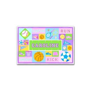 Olive Kids Personalized Laminate Placemat - Game On Girl