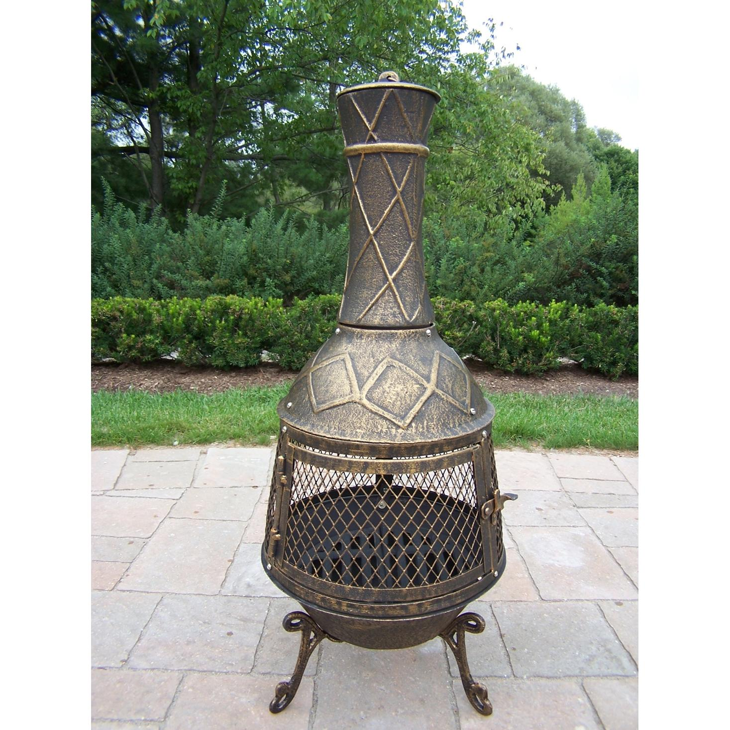 Oakland Living Elite Chimenea - Antique Bronze