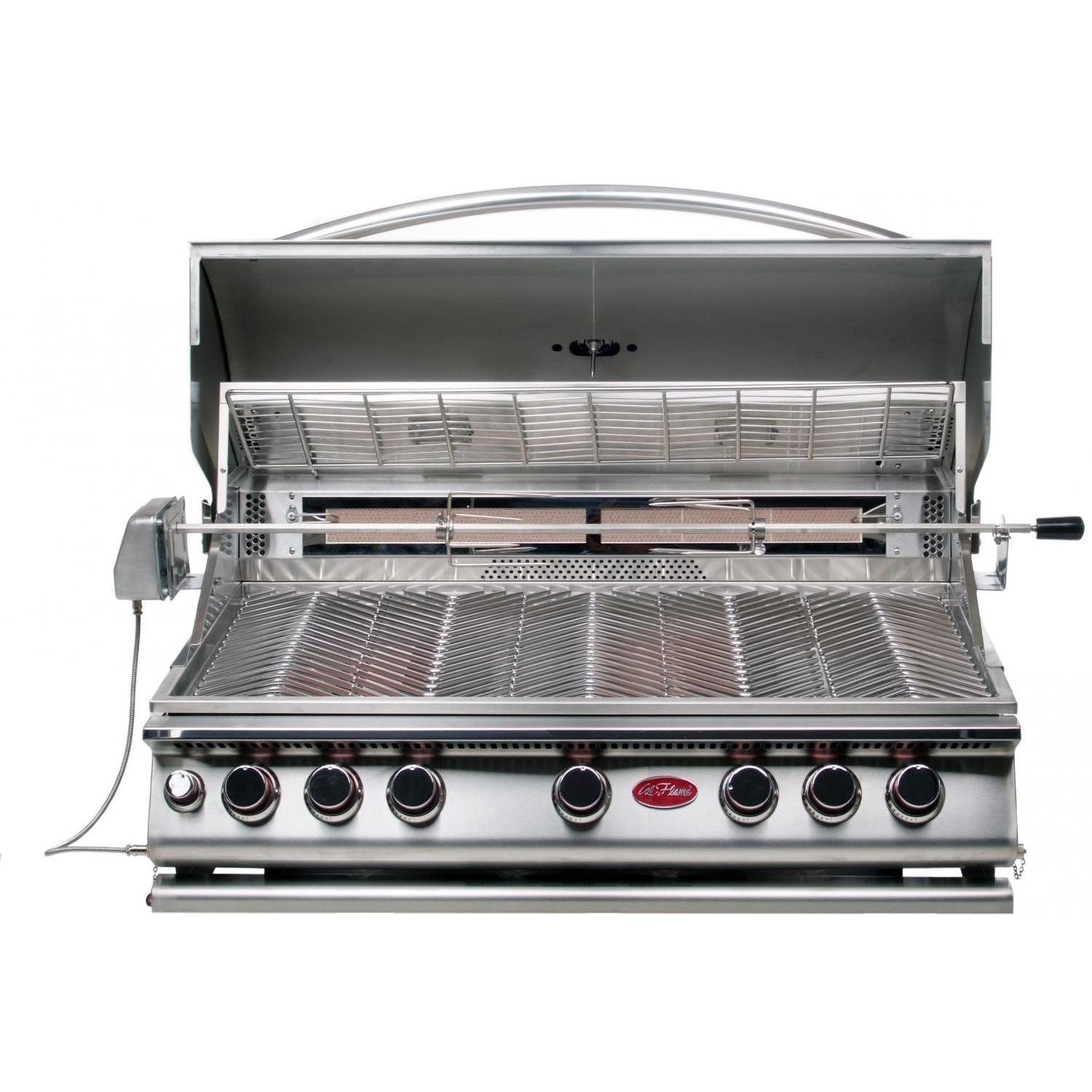 Cal Flame 40-Inch 5-Burner Convection Built-In Propane Gas Grill With Rotisserie - BBQ13875CP 461386