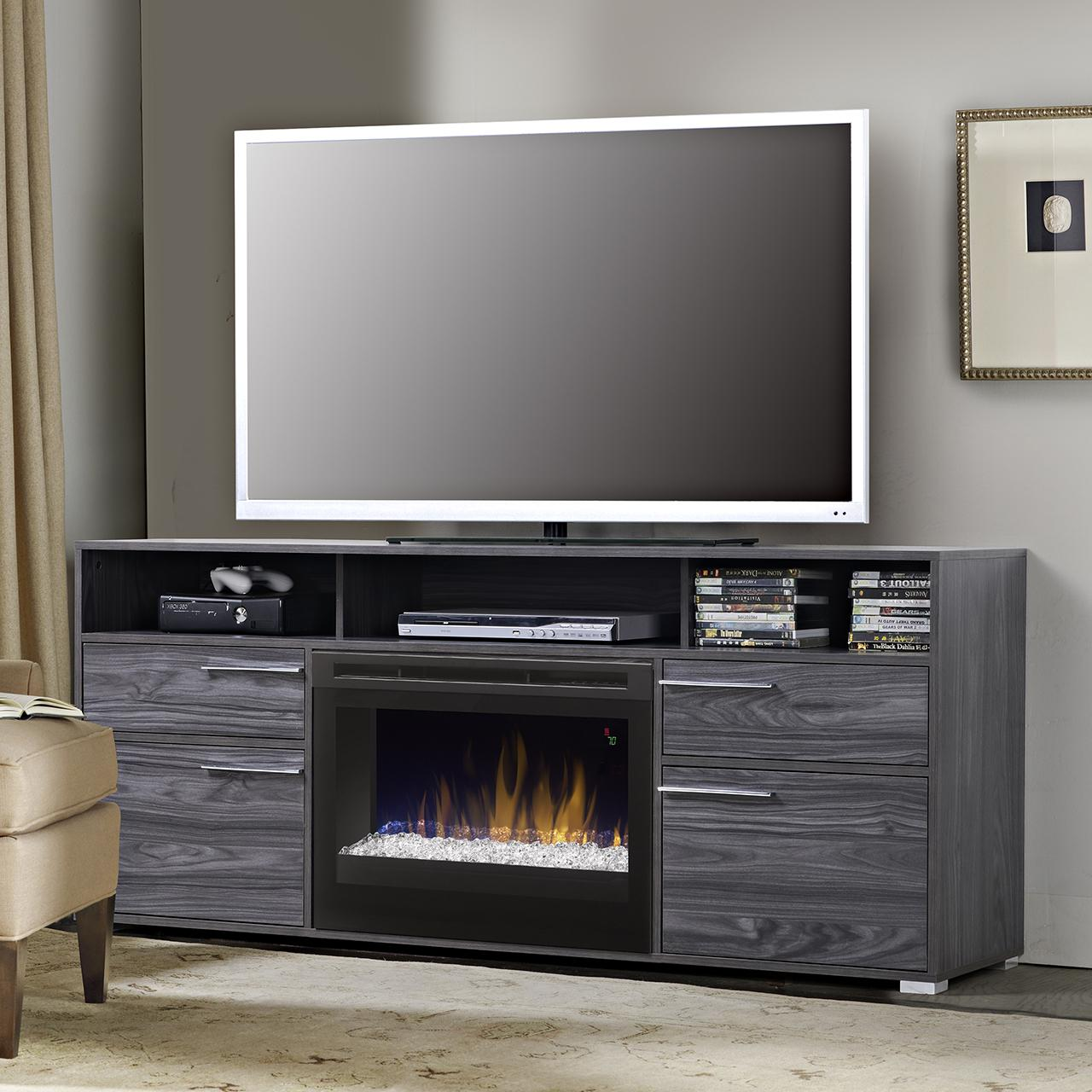 Dimplex Sander 66-Inch Electric Fireplace Media Console -...