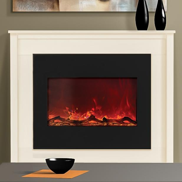 Amantii Zero Clearance 30-inch Built-in Electric Fireplace - Black Glass - Zecl-30