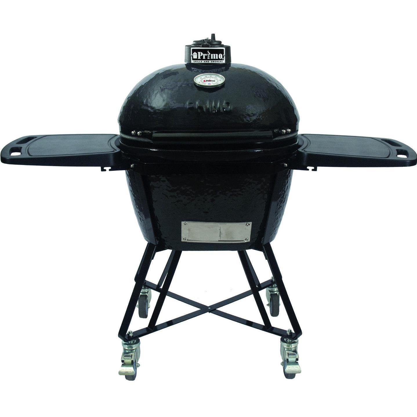 Primo All-In-One Oval Large Ceramic Kamado Grill With Cra...
