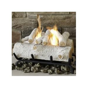 Real Flame 18-Inch Gel Fuel Log Conversion Set - Birch