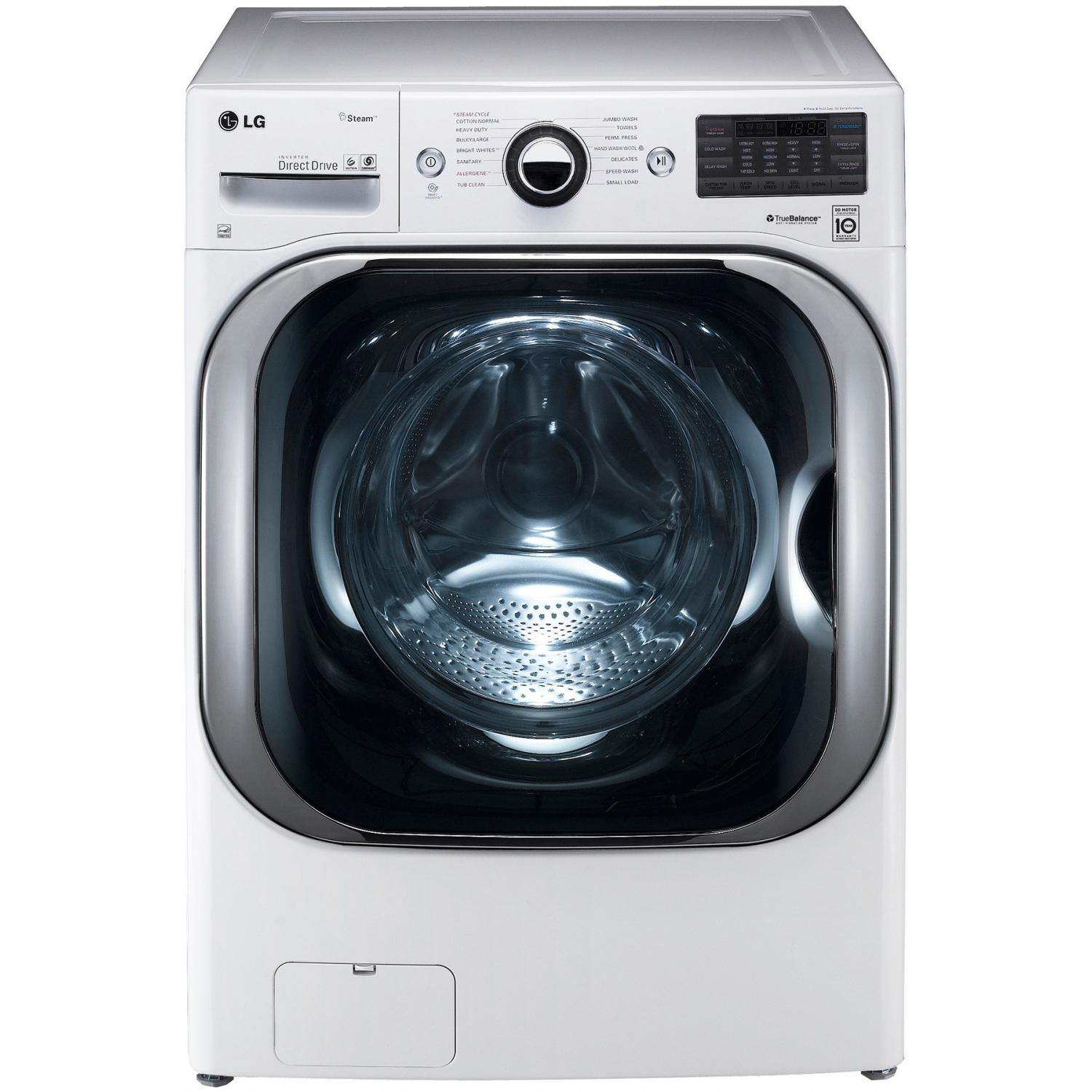 LG WM8000HWA 5.2 Cu. Ft. TurboWash Front Load Washer - White 2890294
