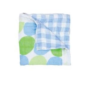 Elegant Baby Swaddle Collection Security Blanket - Blue