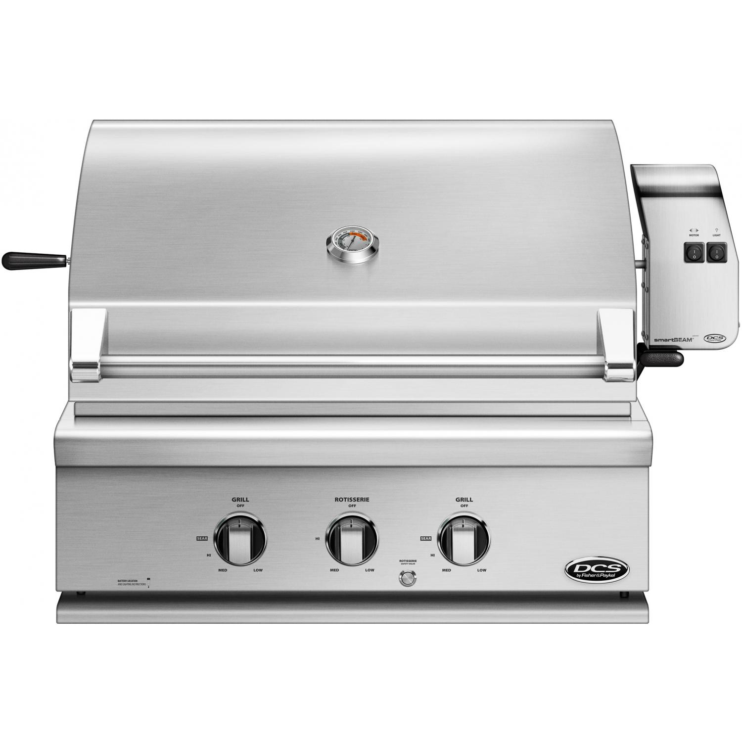 DCS Series 7 Traditional 30-Inch Built-In Propane Gas Gri...