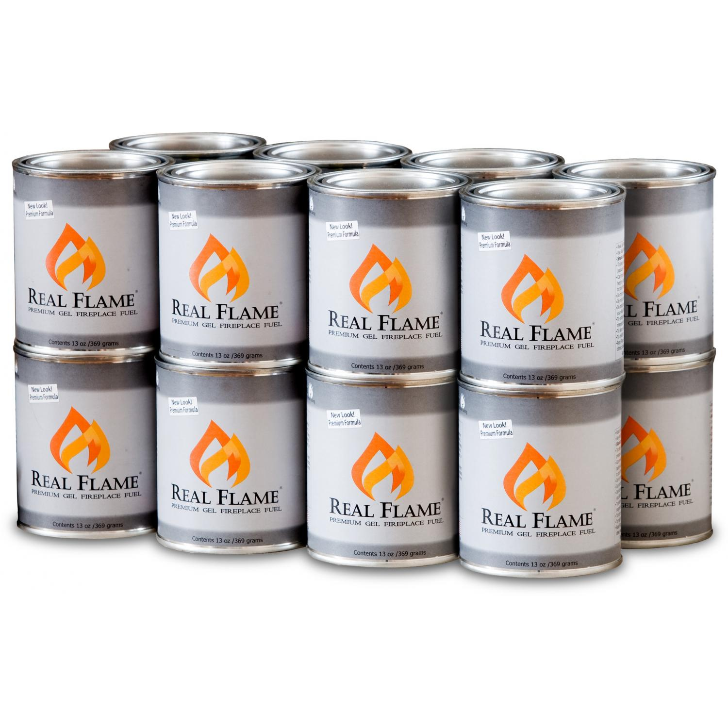 Real Flame Premium Gel Fuel - 13 Oz. Cans - 16 Pack