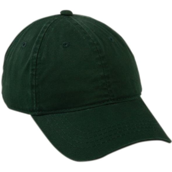 Outdoor Cap Unstructured Garment Washed Twill Cap - Dk.Green, Discount ID GWT-111-305
