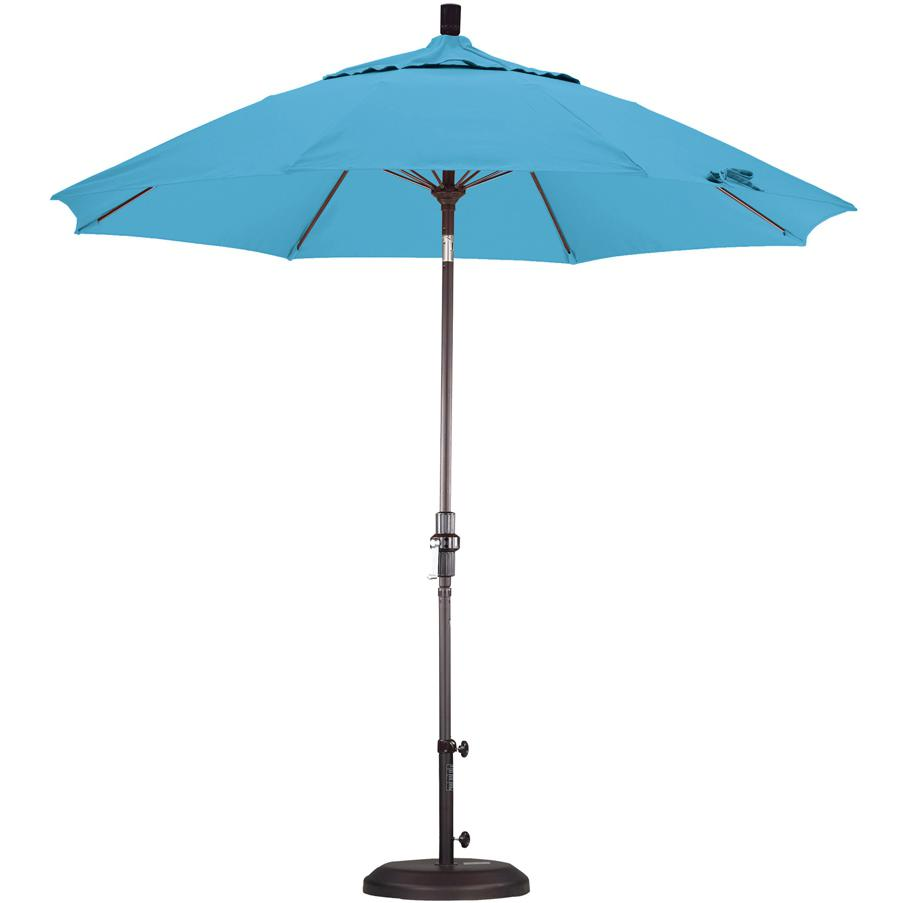 California Umbrella Octagonal 9 Ft Aluminum Patio Collar Tilt Umbrella With Crank Lift And Fiberglass Ribs 2909262