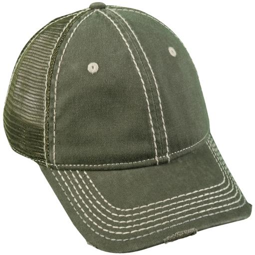 Outdoor Cap Heavy Construction Stitch Cap Olive