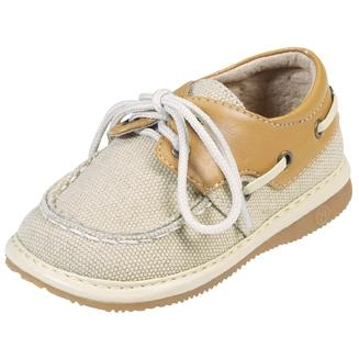 Squeak Me Shoes Boys Canvas Boat Shoe Size 4
