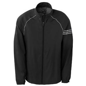 Adidas Golf Mens ClimaProof 3-Stripes Full-Zip Jacket 2XL - Black/Sterling