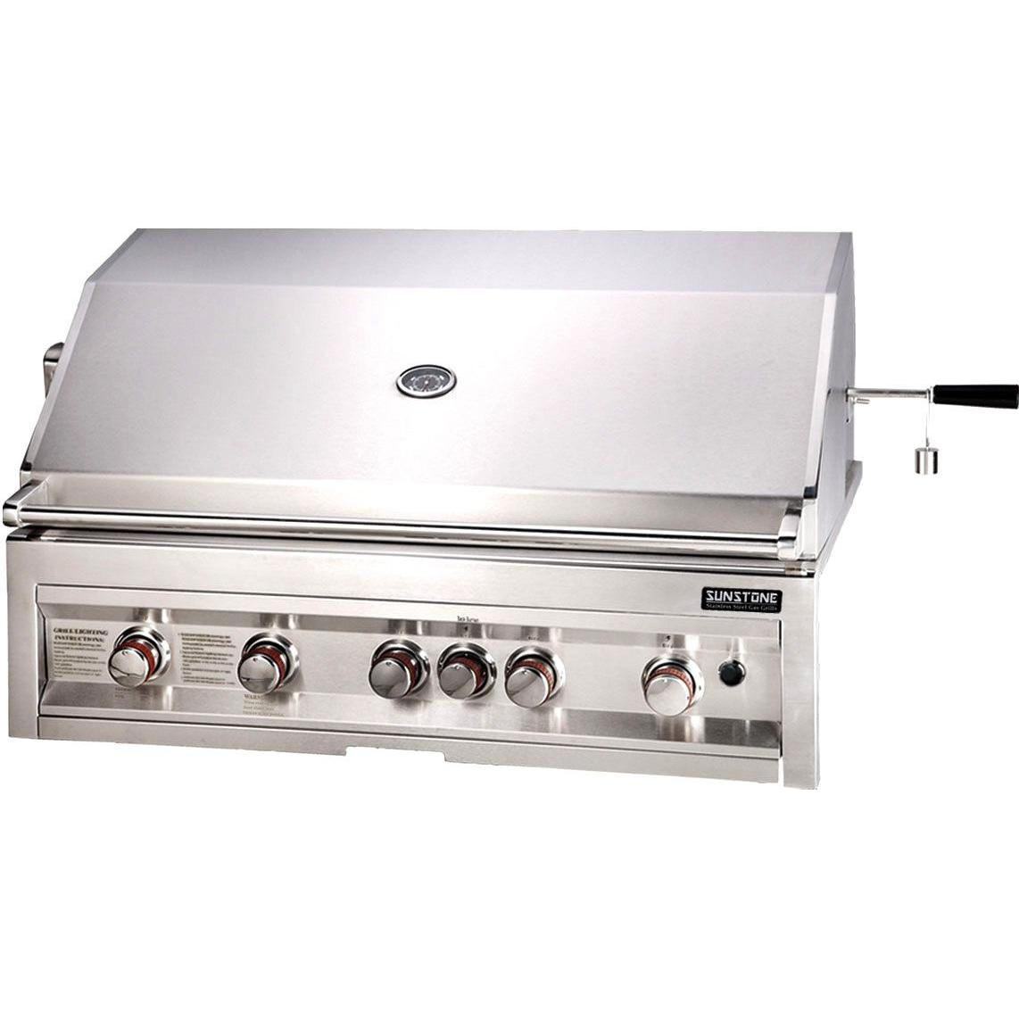 Sunstone Grills 42 Inch 5 Burner Natural Gas Grill With Rotisserie 2764858