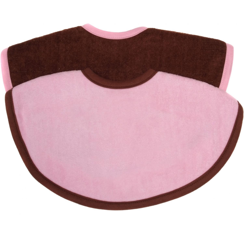 Elegant Baby 2-pack Circle Terry Baby Bib - Pink/brown