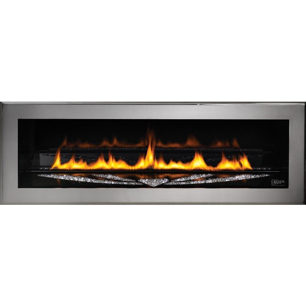 Napoleon LHD50SSP Swarovski Special Edition Linear Propane Gas Fireplace - Silver