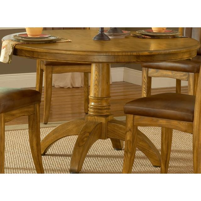 Hillsdale Grand Bay Round Dining Table Medium Oak - 4337DTB