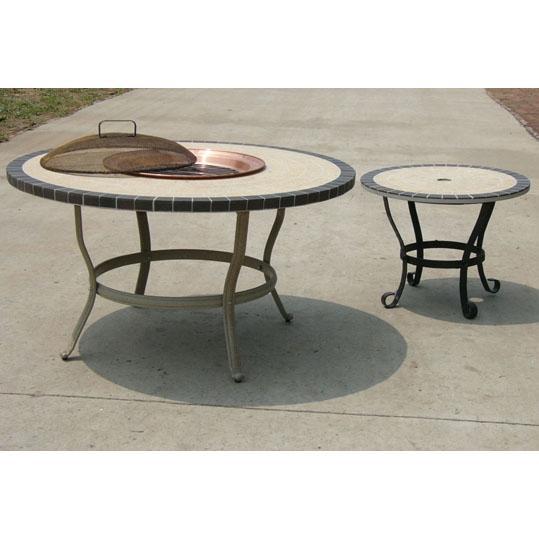 Oakland Living Stone Art 42 Inch Conversation Table W/ Ice Bucket Set