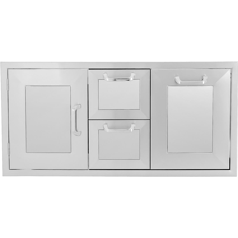 BBQGuys.com Kingston Panel Series 42-Inch Stainless Steel...