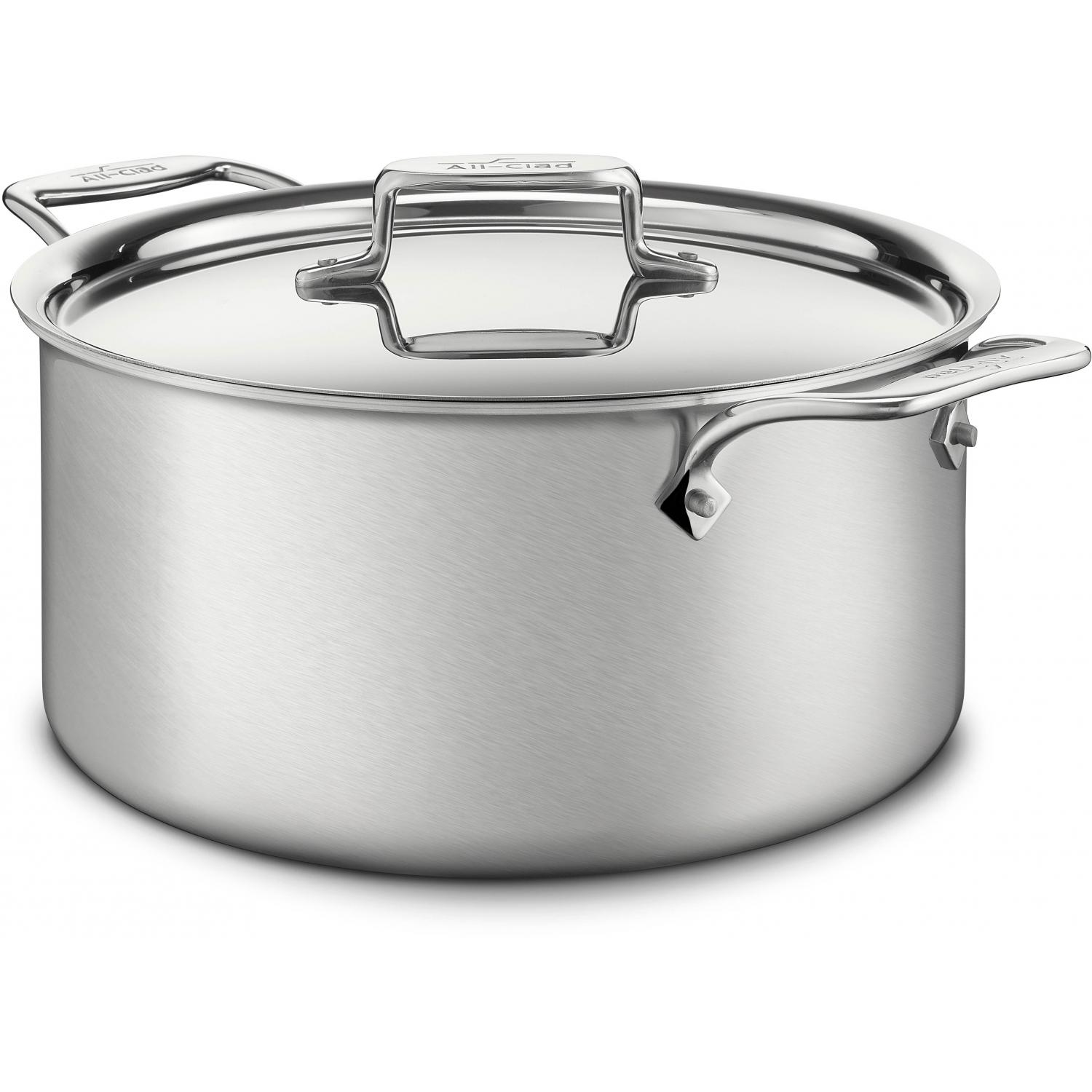 All-Clad D5 Stainless 8-Quart Stock Pot With Lid