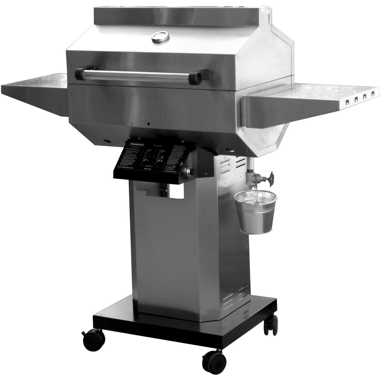 deals phoenix grill sd stainless steel natural gas grill head on stainless steel pedestal cart. Black Bedroom Furniture Sets. Home Design Ideas
