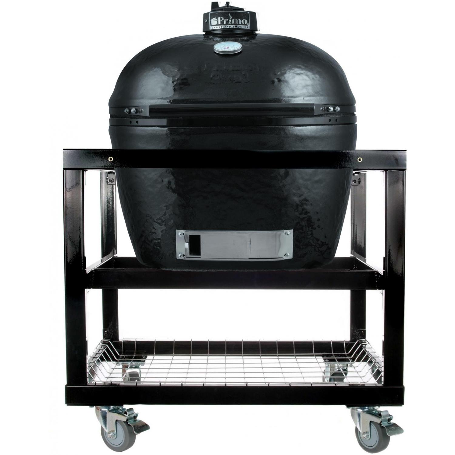 Primo Ceramic Charcoal Smoker Grill On Cart - Oval XL - 778 + 368